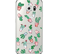 Cactus Pattern Soft Ultra-thin TPU Back Cover For Samsung GalaxyS7 edge/S7/S6 edge/S6 edge plus/S6/S5/S4