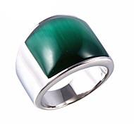 Муж. Женский Массивные кольца Мода Винтаж бижутерия Титановая сталь Опал Бижутерия Назначение Для вечеринок Повседневные