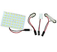 Недорогие -2 шт теплый белый T10 спрятал 48-главе BA9S панель LED Купол карту интерьер света лампы лампы