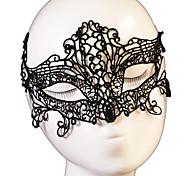 Недорогие -Lace Mask 1шт Праздничные украшения партии Маски Cool / Мода Один размер Черный / Белый Кружево