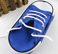 New Pencil Case Canvas Shoes Simple Large Capacity Stationery Bags