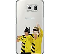 Недорогие -Для Samsung Galaxy S7 Edge Прозрачный / С узором Кейс для Задняя крышка Кейс для Мультяшная тематика Мягкий TPU SamsungS7 edge / S7 / S6