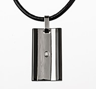 Necklace Pendant Necklaces Jewelry Party / Daily / Casual Fashion Titanium Steel Silver 1pc  Christmas Gifts