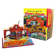 Избавляет от стресса Ролевые игры Игрушка с заводом Игрушечные машинки Игрушки Квадратный Автобус Металл 1 Куски Рождество День рождения