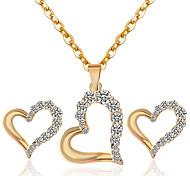 Недорогие -Ожерелье / серьги Мода Стразы Сплав Золотой Белый Ожерелья Серьги Для Для вечеринок Повседневные 1 комплект Свадебные подарки