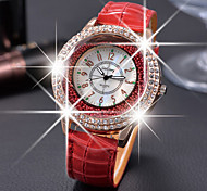 cheap -Women's Quartz Floating Crystal Watch Casual Watch Leather Band Elegant Fashion Black White Red Brown