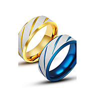 cheap -Men's Women's Band Ring Gold Blue Titanium Steel Others Unique Design Fashion Casual Costume Jewelry