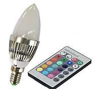 cheap -E14 LED Smart Bulbs C35 1 High Power LED 100-230 lm RGB 2000-5000 K Remote-Controlled AC 85-265 V