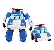 Робот Игрушечные машинки Полицейская машинка Игрушки Машина Робот Аниме Куски Подарок