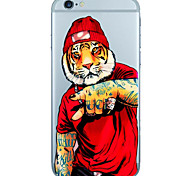 Cartoon Pattern TPU Ultra-thin Translucent Soft Back Cover for iPhone 5 5S SE 6 6S 6Plus 6S Plus