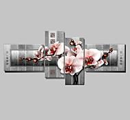 Ручная роспись Абстракция Любая форма,Классика 4 панели Hang-роспись маслом For Украшение дома