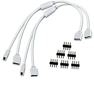 2PCS/Lot 1 to 2 Ports Female Connection Cable 4 Pin Splitter for LED Color Changing Strip Lights get free 6Pcs Pins