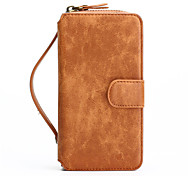 iPhone 7 Plus 2in1 Genuine Leather Zipper Wallet Card Slot Back Shell Case for iPhone 6s 6 Plus SE 5s 5
