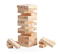 48Pcs Blocks Mini Wood Stacking & Tumble Tower Blocks Game
