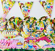 Украшение детских evnent партийные поставки Партия 78pcs день рождения роскошь принцессы 6 человек используют