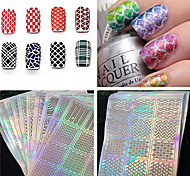 cheap -1pcs Diecut Manicure Stencil Nail Stamping Template Daily Fashion Neon & Bright High Quality
