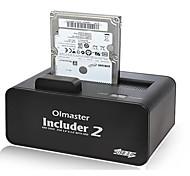 Недорогие -2,5 / 3,5-дюймовый внешний мобильный жесткий диск коробка жесткий диск сиденье начать сата случайный цвет