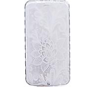cheap -TPU Material White Rose Pattern Painted Slip Phone Case for LG K10/K8/K7/K5/K4/G5/G4/G3