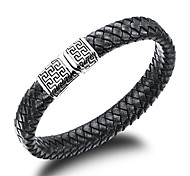Men's Fashion Jewelry Steel Vintage Bangles Leather Cuff Bracelets Casual/Daily  Accessories Christmas Gifts