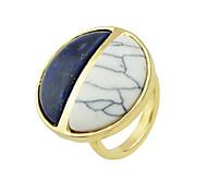 Trendy Imitation Turquoise Big Fingers Rings