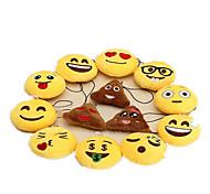 Недорогие -Брелок Мягкие и плюшевые игрушки Игрушки Брелок Круглый Emoji текстильный Милый 1 Куски Мальчики Девочки Рождество День детей День