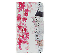 Cat Painting TPU Material Mobile Shell Case with Card Slots Stand for iPhone 7 7Plus 6S 6Plus SE 5S 5
