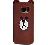 мультфильм шаблон медведь для края корпуса телефона Samsung Galaxy s7 силиконовой оболочки материала s3 s4 s5 s6 s7 края