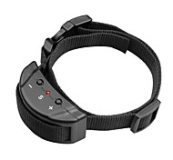 Dog Bark Collar Adjustable / Retractable Anti Bark Electronic/Electric Shock/Vibration Solid Nylon Black