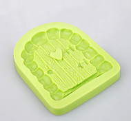 3D Fairytale Castle Door & Window Fondant Different Shape Silicone Baking Molds Ramdon Color