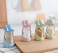 Condiment Dispenser Seasoning Box  Baby elephant Elephant Wheat Straw Green Plastic Products (Random Colour)