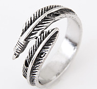 cheap -Men's Band Ring Silver Alloy Others Feather Personalized Vintage Open Fashion Adjustable European Daily Casual Costume Jewelry