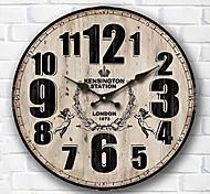 1PC  Wall Clock  Sitting Room European Style Pastoral Clock  Arts Bracket Clock Modern Mute  Clock (Pattern is Random)