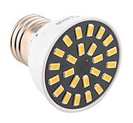 Недорогие -E26/E27 Точечное LED освещение MR16 24 светодиоды SMD 5733 Декоративная Тёплый белый Холодный белый 400-500lm 2800-3200/6000-6500K AC