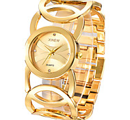 cheap -Women's Quartz Bracelet Watch Casual Watch Stainless Steel Band Elegant / Fashion / Bangle Silver / Gold