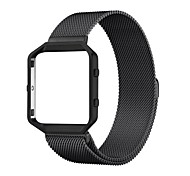 cheap -Rugged Metal Frame Housing with Magnet Lock Milanese Loop Stainless Steel Bracelet Strap Band for Fitbit Blaze