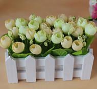 Set of 1 PCS 1 Филиал Полиэстер Розы Букеты на стол Искусственные Цветы 2.7
