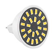 Недорогие -GU5.3(MR16) Точечное LED освещение MR16 24 светодиоды SMD 5733 Декоративная Тёплый белый Холодный белый 400-500lm 2800-3200/6000-6500K AC
