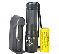 LED Flashlights / Torch LED 5000 lm 1 Mode Cree XM-L T6 Zoomable Adjustable Focus Dimmable Camping/Hiking/Caving Cycling/Bike