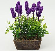 Set of 1 PCS 1 Филиал Полиэстер Светло-голубой Букеты на стол Искусственные Цветы 7.8