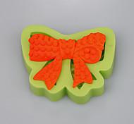 Силиконовый торт продукты bowknot форма для прополки торт украшения инструменты кухонные аксессуары цвет случайный