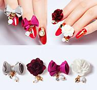 Недорогие -4 pcs Украшения для ногтей Цветы / Мода Повседневные Дизайн ногтей