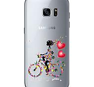 Недорогие -Кейс на заднюю панель Бисквитный / Other Heart TPU Мягкий Для крышки случая Samsung Galaxy S7 edge / S7 / S6 edge plus / S6 edge / S6