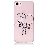 Glow in the Dark Love letters Pattern Embossed TPU Material Phone Case for  iPhone 7 7 Plus 6s 6 Plus SE 5s 5