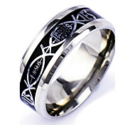 Men's Silver Alloy Band Ring