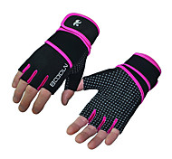 Fitness Breathable Lengthened Wrist Men and Women Slip Weightlifting Equipment Sports Safety Gloves Half Finger 1 Pair