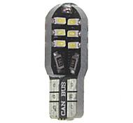 Недорогие -10 х T10 149 W5W 3w CANbus 24x3014smd водить 300lm водить автомобиль лампочку (6000 - 6500k постоянного тока 12 - 16В)