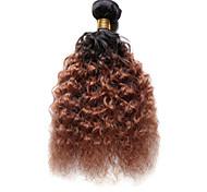 economico -Indiano Molto ondulata Tessiture capelli umani 1 pezzo Ambra