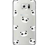 Panda Animal Tile Pattern Soft Ultra-thin TPU Back Cover For Samsung GalaxyS7 edge/S7/S6 edge/S6 edge plus/S6/S5/S4