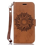 for Samsung Galaxy S8 Mandala Embossed Leather Wallet for Samsung Galaxy S5 S6 S6Edge S7 S7Edge