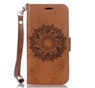 Недорогие -Кейс для Назначение SSamsung Galaxy Samsung Galaxy S7 Edge Бумажник для карт Кошелек со стендом Рельефный Чехол Мандала Твердый Кожа PU